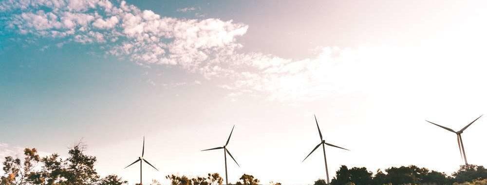 Landscape image of windmills